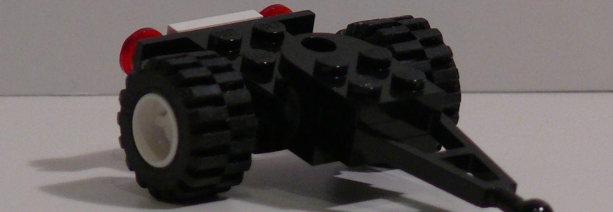 En model af en trailer dolly, som kan bruges til at flytte trailere